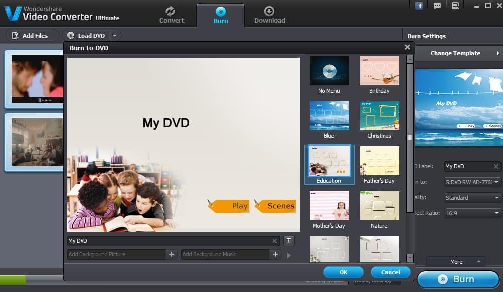 ghi dvd wondershare video converter ultimate
