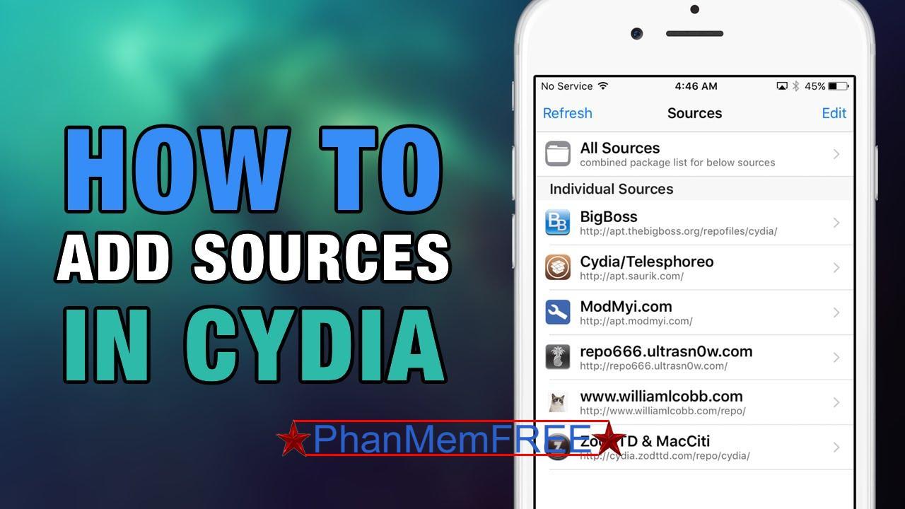 Cách Add Source Cydia