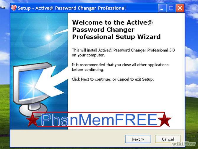 Cài đặt và chạy công cụ khôi phục mật khẩu Windows trên máy tính khác