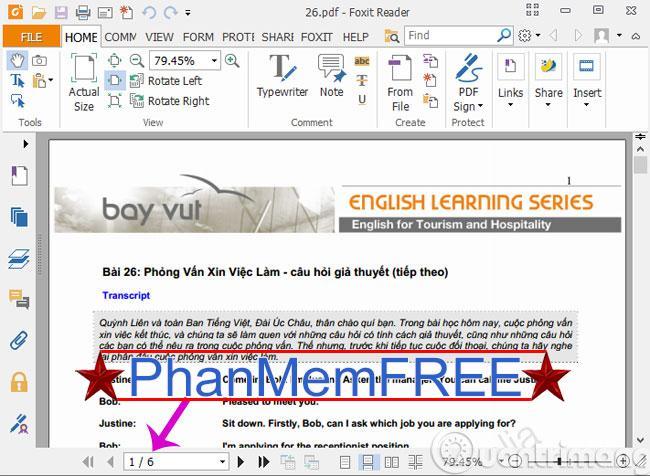 Mở file PDF muốn cắt lên