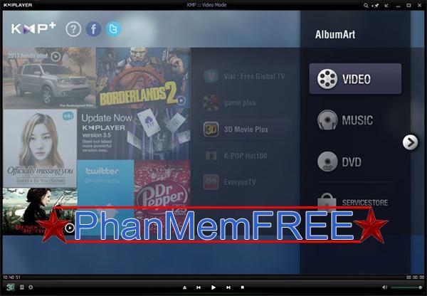 Xem video trên KMPlayer