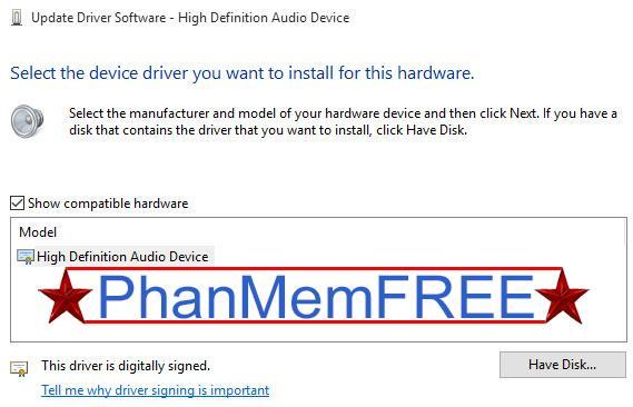 Cập nhật IDT High Definition Audio CODEC