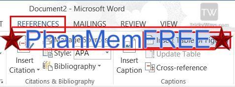 Tạo danh mục bảng biểu trong Word tự động