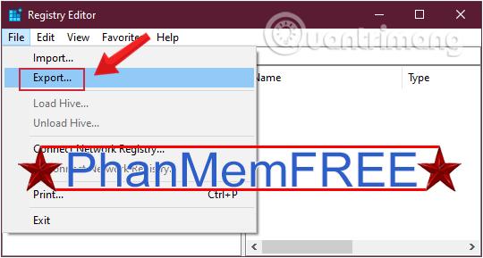 Sao lưu lại trước khi sửa đổi Registry