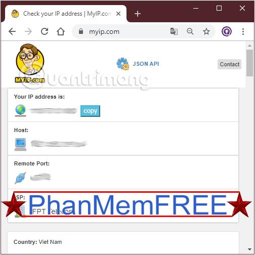 Tìm địa chỉ IP public với myip.com