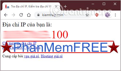 Tìm địa chỉ IP public với kiemtraip.com