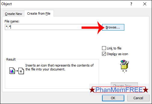 Chọn file PDF trong máy tính