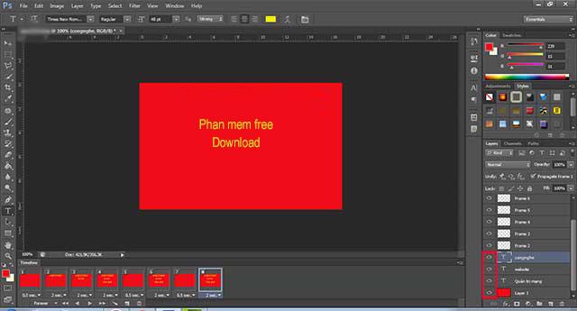 Hướng dẫn tạo ảnh động trên Photoshop CS6