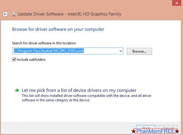 Đường dẫn cập nhật Driver