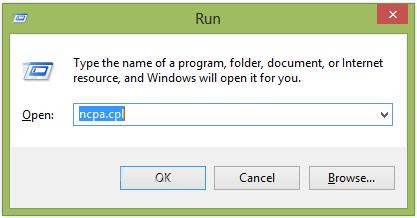 Nhập inetcpl.cpl vào cửa sổ lệnh Run