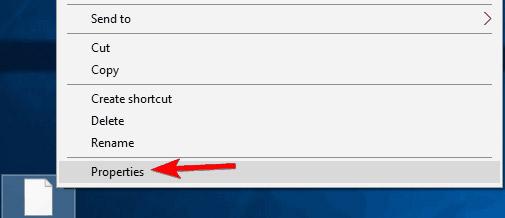 Tìm tệp hoặc thư mục mà bạn không thể truy cập, nhấp chuột phải vào tệp hoặc thư mục đó và chọn Properties.