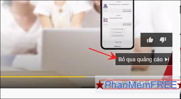 Bỏ qua quảng cáo Youtube