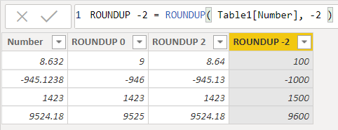 Hàm ROUNDUP trong Excel
