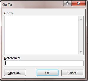 Lệnh di chuyển trong Excel