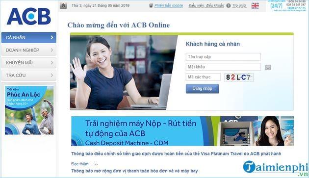 Cách đăng ký ngân hàng trực tuyến acb bank 3