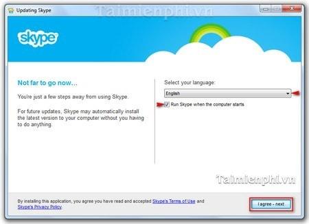 huong dan cai Skype tren may tinh