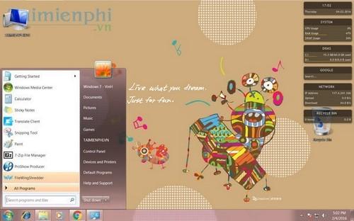 Hướng dẫn cài theme cho Windows 7