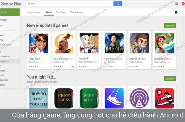 tải xuống google play