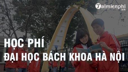 Học phí Đại học Bách khoa Hà Nội 2021