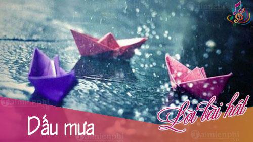 Lời bài hát Dấu mưa