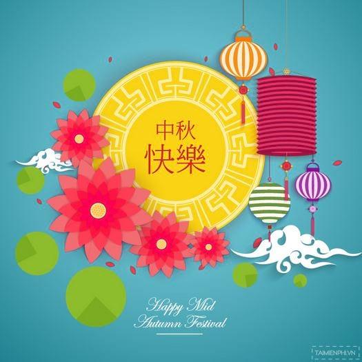 Lễ hội Tết Trung thu Banner vector 12