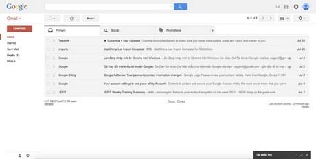 mo email doc mail bang gmail trong ibox