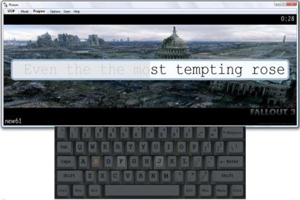 Stamina typing tutor