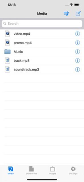 Mymedia iOS File Manager Screenshot 1