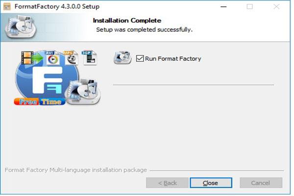 Format Factory Install