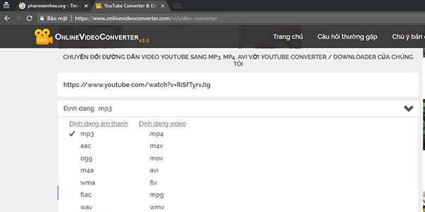 Tach Nhac Youtube Onlinevideoconverter