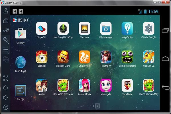 Những phần mềm giả lập Android nhẹ dành cho máy cấu hình yếu