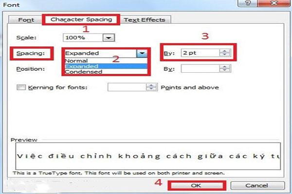 Chinh Khoang Cach Chu Trong Word