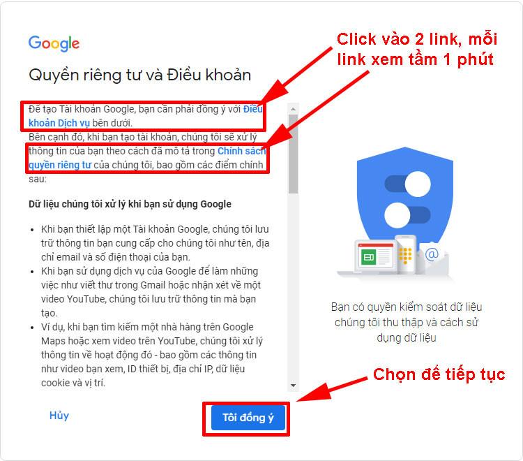 Dang ky gmail khong can so dien thoai 4