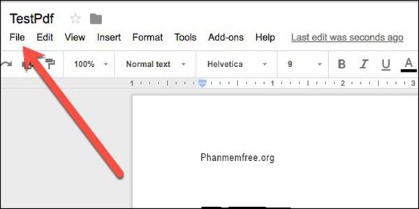 Menu File Google Docs