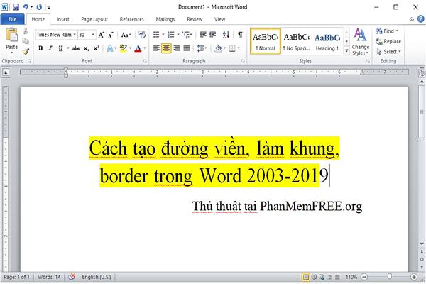 Tao Khung Vien Trong Word