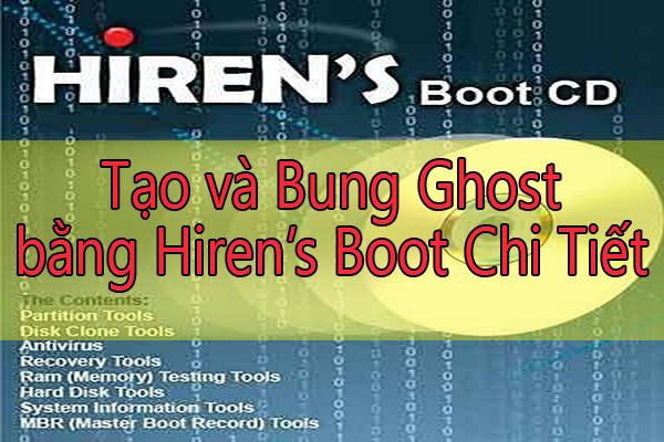 Hiren's Boot để Tạo và bung file Ghost chi tiết