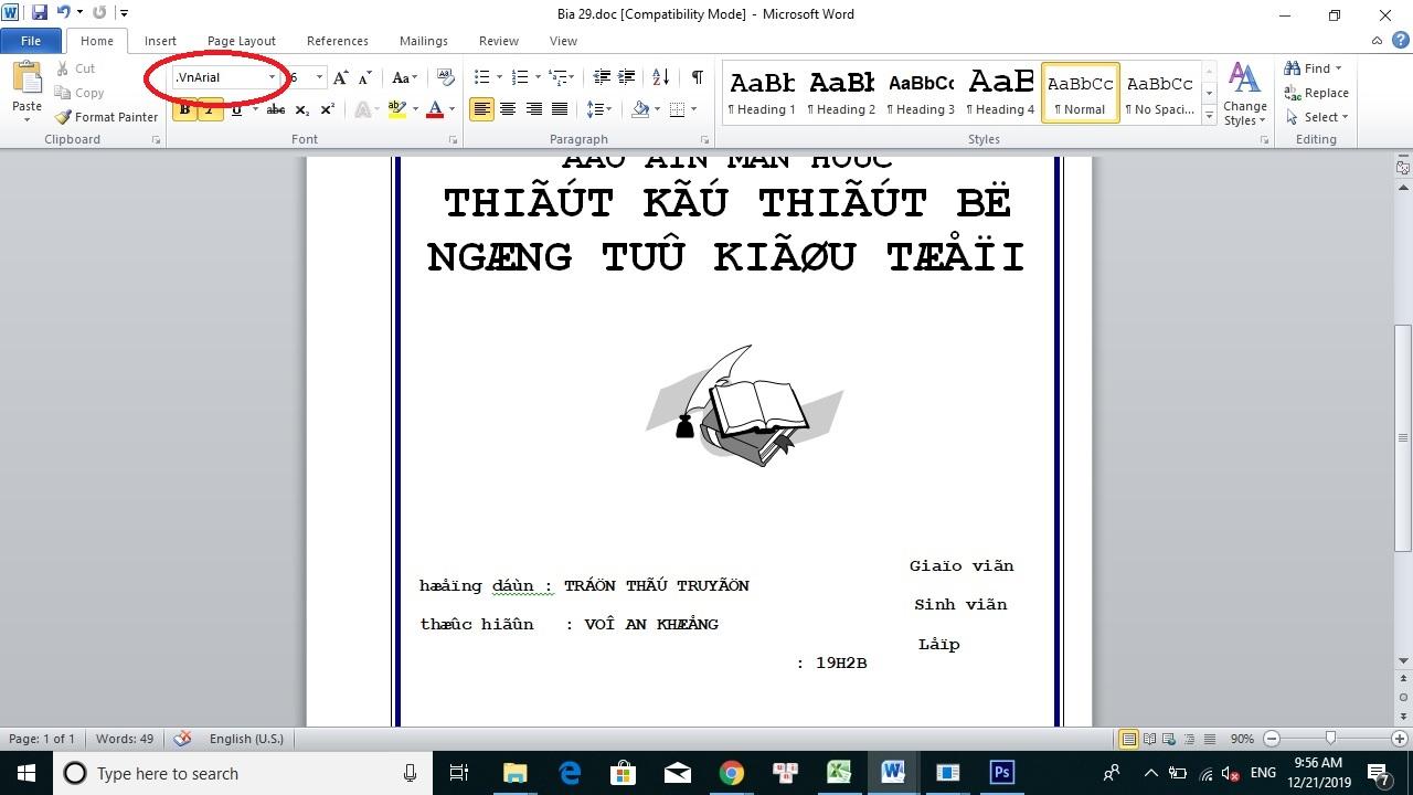 Van Ban Loi Font Word