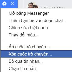 Xoa Cuoc Tro Chuyen Facebook