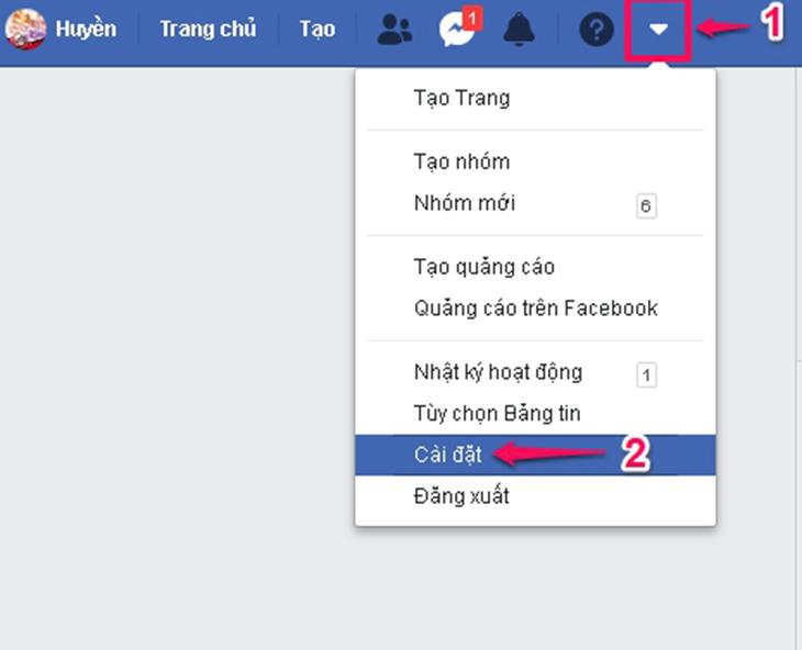 cach doi ten facebook tren may tinh 1