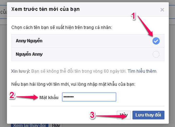 cach doi ten facebook tren may tinh 4