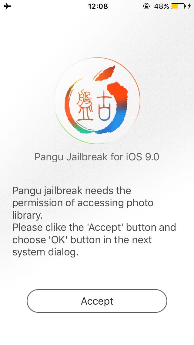 Pangu Jailbreak iOS 9 Screenshot 3